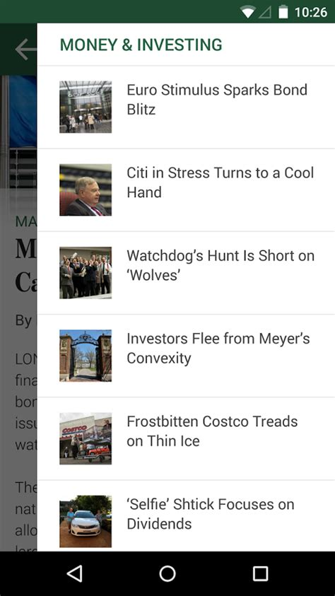 wsj app for android the wall journal android apps on play