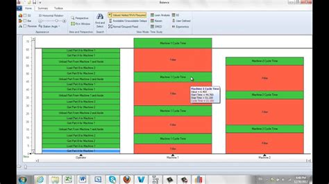 Visually Creating Man Machine Charts Youtube Machine Chart Excel Template