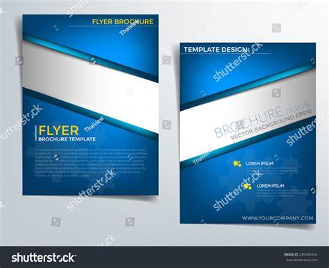 flyer template blue blue brochure template vector background flyer stock