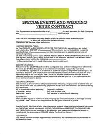 Wedding Catering Contract Sle by Contract Forms In Pdf