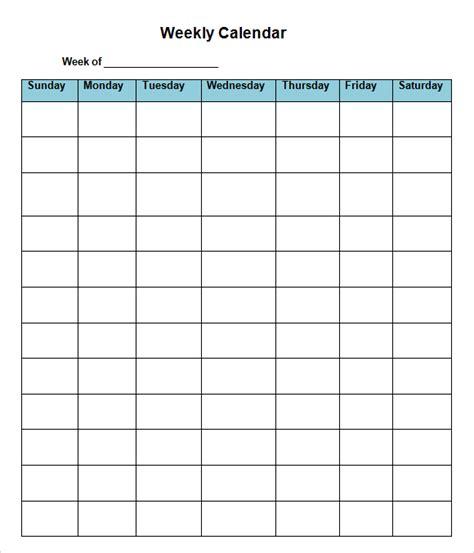 8 week calendar template blank calendar design 2017