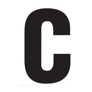 printable large capital letters solid capital c