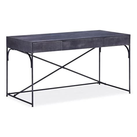 Potrero Hill Distressed Black Metal Student Desk Metal Desk