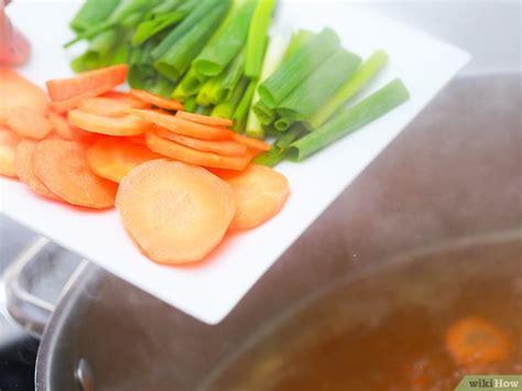 cara membuat kaldu ayam untuk shabu shabu 4 cara untuk membuat shabu shabu wikihow