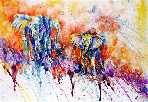 the gallery for gt colorful abstract elephant