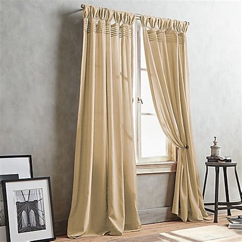 soft gold curtains buy dkny city edition 63 inch window curtain panel in soft