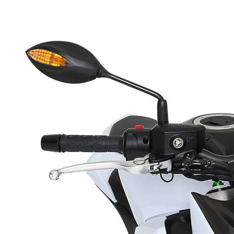 Ebay Motorrad Spiegel by Motorrad Spiegel Mit Led Blinker Paar Schwarz