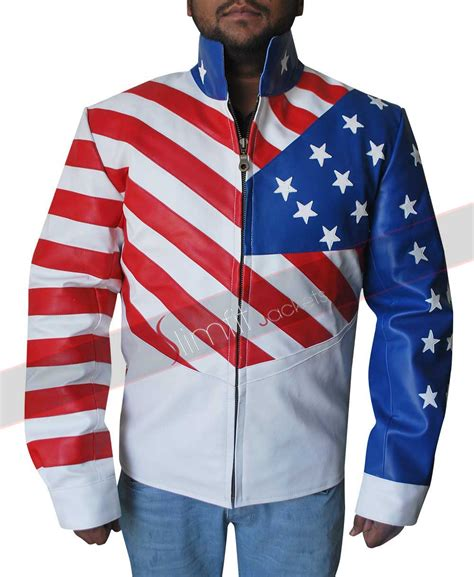 Jaket American Union Flag Leather Jacket