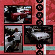 scrapbook layout new car corvette show scrapbook layouts