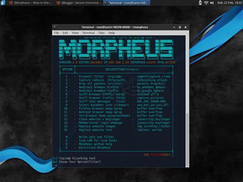 tutorial linux backbox morpheus di backbox linux secure instrument