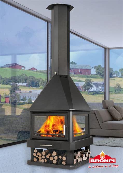 bronpi huelva stove 4 sided fireplace