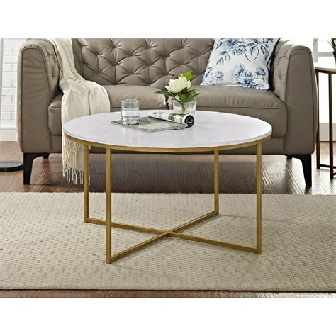 wood and gold coffee table walker edison furniture company 36 in marble gold coffee