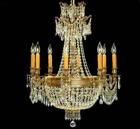 Valencia Collection 8 8 Light Large Brass Crystal Large Chandeliers