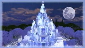 sims 4 elsa frozen castle speed build