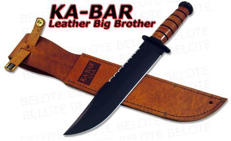 kabar big sheath ka bar kabar knives leather handle big bowie 2217