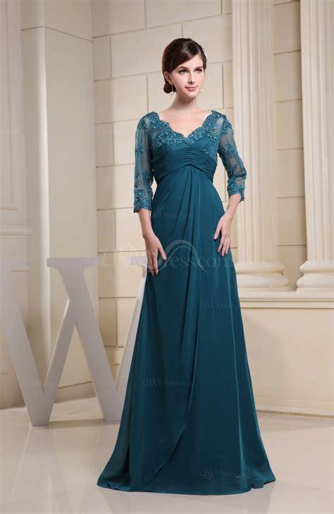 elegant  length sleeve zipper floor length ruching
