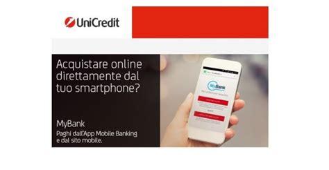 unicredit sito unicredit my bank paghi dall app mobile banking e dal