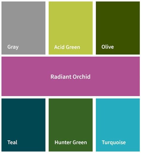 Radiant Orchid Home Decor the color report pantone s color of the year and more