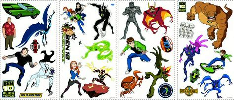 ben and wall stickers ben 10 roommates wall decals wall stickers