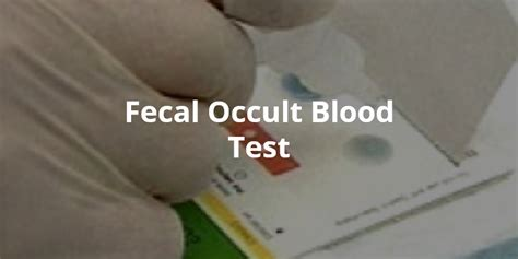 Occult Blood In Stool Treatment by Wellness Lab Health Info Fecal Occult Blood Test