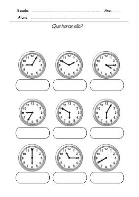 Idéias criativas: Estudando as horas - Relógio
