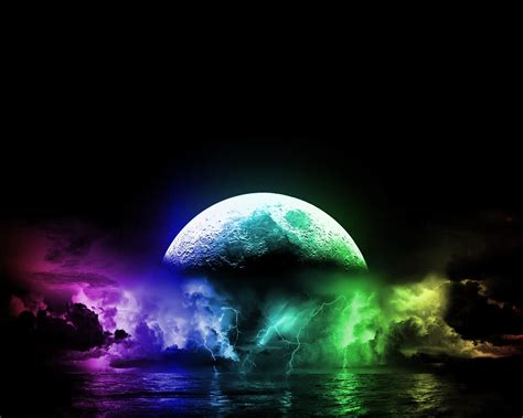 colorful moon wallpaper cool lightning backgrounds download wallpaper a