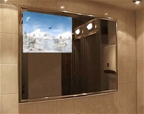 bathroom mirror tv screen 55 inch luxury frameless waterproof led tv stand mirror