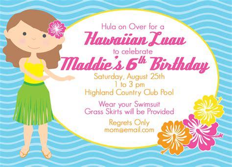 Hawaiian Theme Wedding Invitation To Email by Luau Invitations Xyz