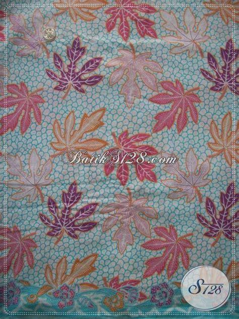 Bahan Kain Balotelli Motif Daun bahan batik motif daun pepaya warna motif biru batik mewah cocok untuk seragam batik sarimbit