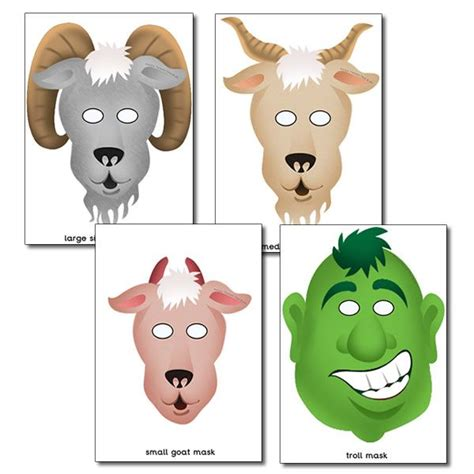 printable mask goat pin printable goat masks on pinterest