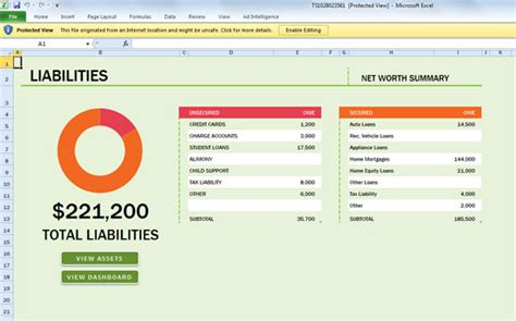 assets and liabilities template excel free net worth spreadsheet template for excel 2013