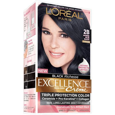 Loreal Blue Black l oreal excellence richesse creme hair color 2b