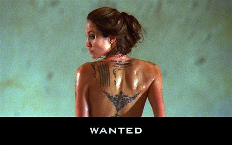angelina jolie tattoo in wanted movie movie reviews wall e wanted 171 master dilettante
