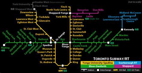 toronto subway map toronto subway and rt maps free printable maps