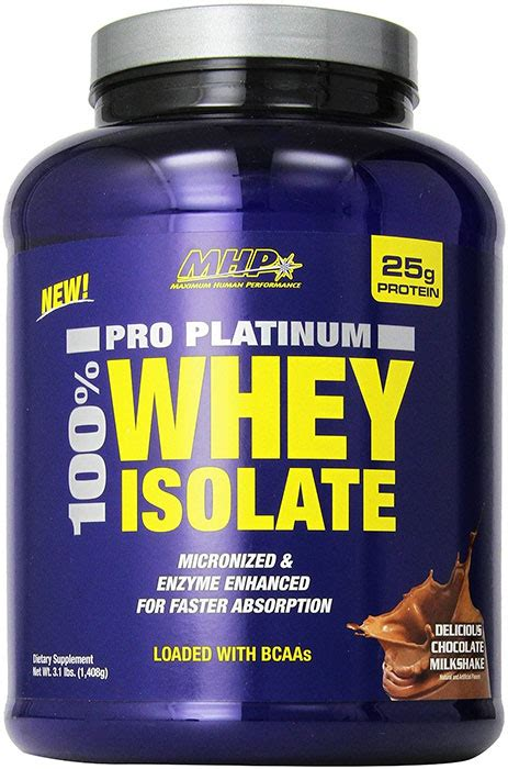 Mhp Whey Isolate 3 Lbs Coklat by Mhp Pro Platinum 100 Whey Isolate Chocolate Milkshake 3 1