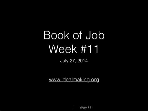 major themes book of job week 11 old i dealmaking a bible study based on the