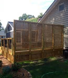 deck privacy lattice lattice deck privacy wall in nc decks photo