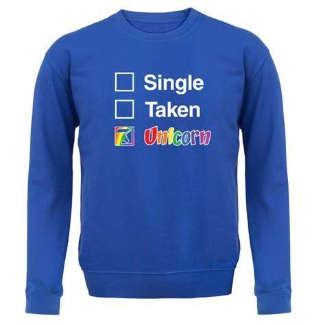 Sale 7365 Sweater Blue Unicorn single taken unicorn unisex sweater jumper