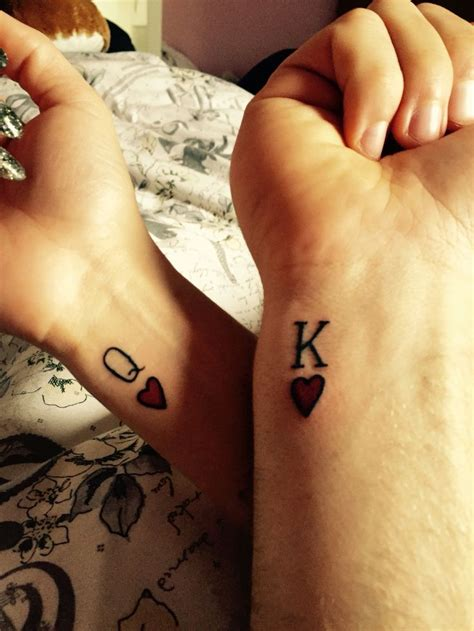 couple wrist tattoos best 25 king ideas on