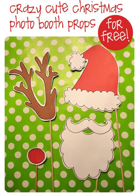 christmas photo booth props party ideas
