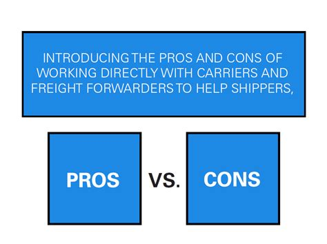 Pros And Cons Of Mba In Today S Environment by Series Who S The Right Partner For Shippers Part Ii