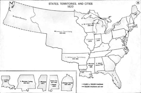 map of us states in 1820 the year was 1820 24 7 family history circle