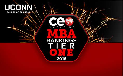 Ceo Magazine Best Mba by Uconn Mba Program Gains Additional Recognition School Of