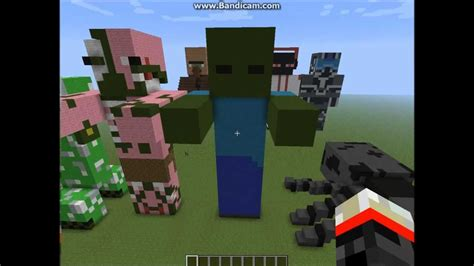 minecraft tutorial zombie statue how to build a minecraft zombie statue youtube