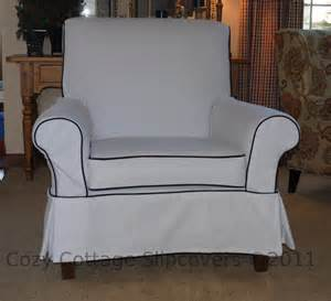 cozy cottage slipcovers club chair slipcover network