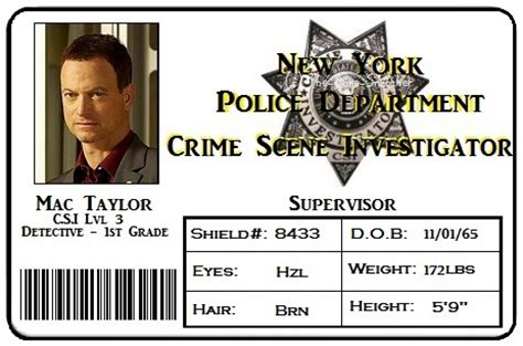 id card template for mac mac taylor id card by the bone snatcher on deviantart