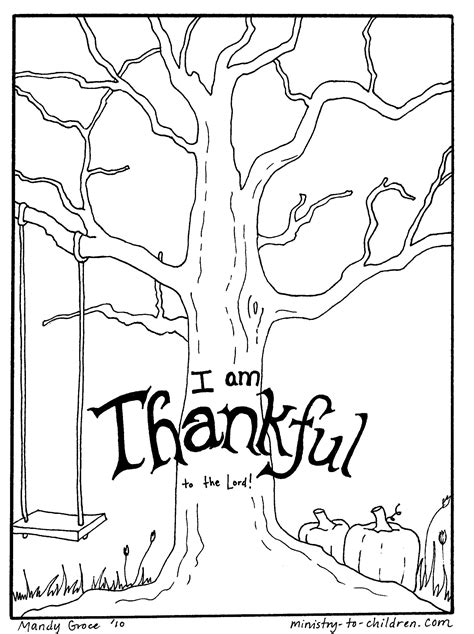thanksgiving coloring page use with foam leaves for 3s 4s
