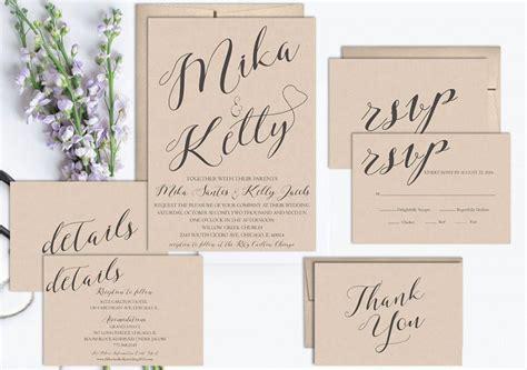 printable wedding invitation templates vintage rustic wedding invitation printable wedding invitation