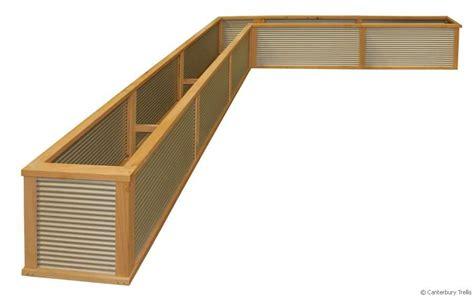 Corrugated Iron Planter Boxes by Christchurch Canterbury Trellis Quality Trellis