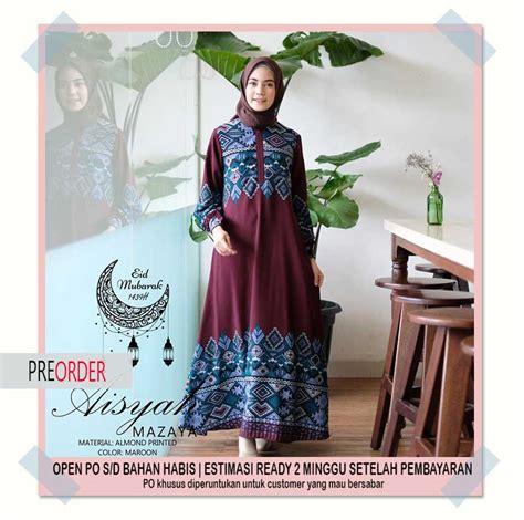 Jilbab Jersey Motif Aisyah 06 abaya model baru wa 08127 60 888 06 pusat busana muslim